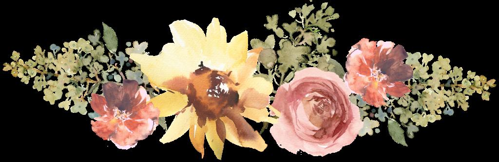 bouquet, sunflower, rose, hydrangea